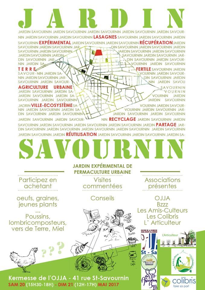 Portes Ouvertes Jardin Savournin 20 et 21 mai 2017