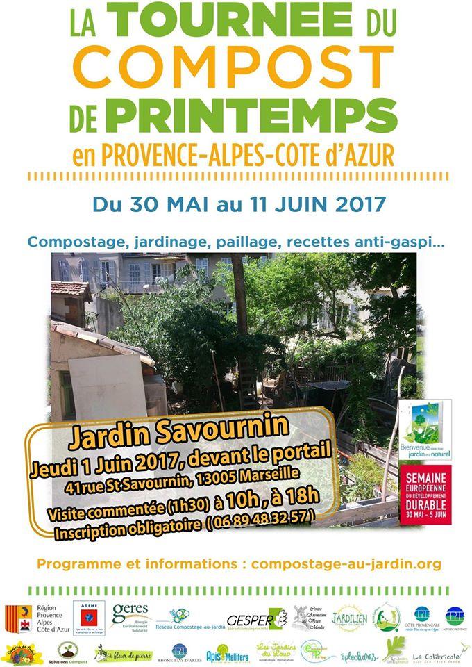 Tournée du Compost 2017 Jardin Savournin